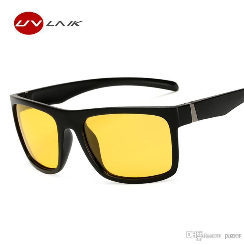 72a6608d3f Compre UVLAIK Gafas De Sol De Conducción Para Hombres Lentes Polarizadas  Gafas De Sol Mujeres Visión Nocturna Gafas Gafas Moda Deporte Gafas De  Conducción A ...