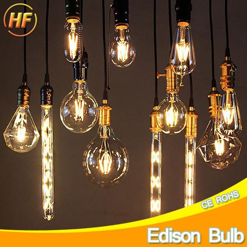 Acheter 220 V Vintage Led Edison Filament Ampoule E27 E14 Retro