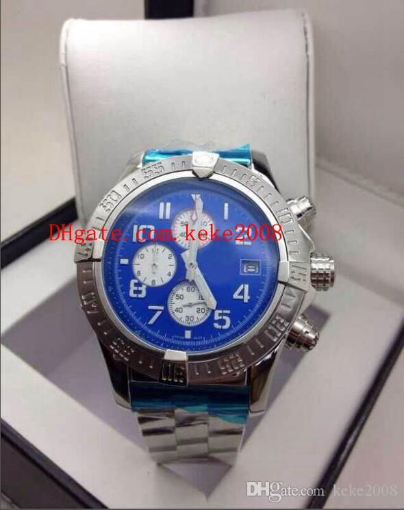 on sale ded40 09a81 Luxury High quality Watch Avenger E13360 48mm Blue Dial Stainless Steel VK  Quartz Chronograph Working NO Chronograph Mens Watch Watches