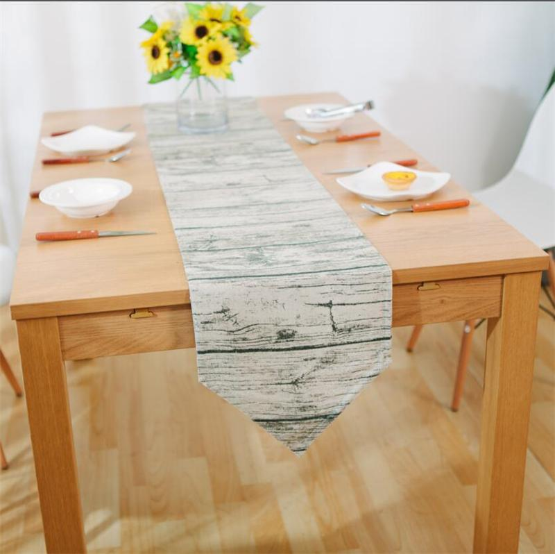Charmant Colorful Floral Decorative Table Runner For Dining Wood Grain Printed Table  Runner For Wedding Party With 3 Sizes Table Linens For Sale Table Linens ...