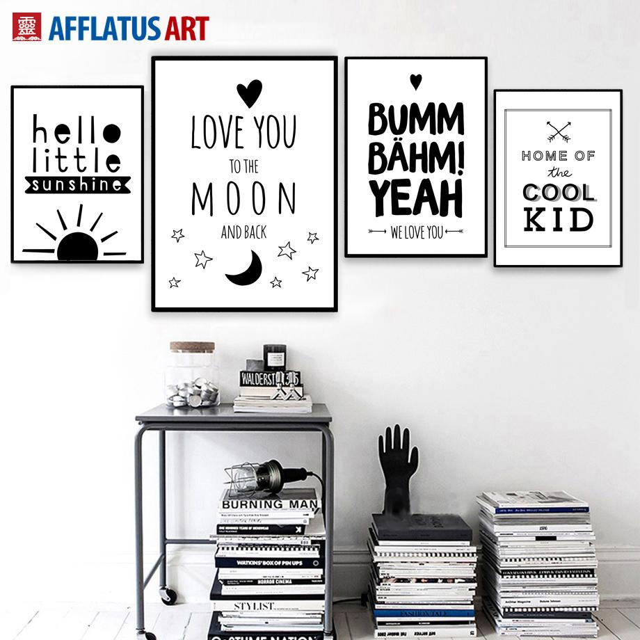 2018 Cool Letter Quote Wall Art Posters And Prints Canvas Painting Black  White Wall Pictures For Living Room Bedroom Decor From Aliceer, $20.89 |  Dhgate.Com