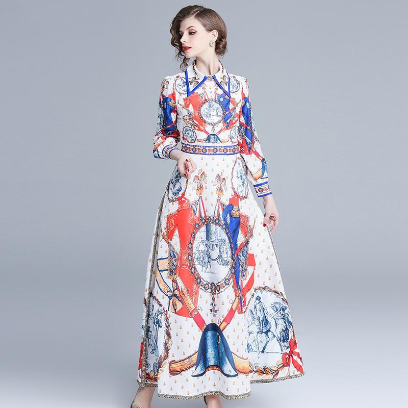 differently 8a717 44ac0 Abiti da cerimonia per signora banchetto abiti da cerimonia da sera  vestidos vestitino da donna a vita alta con stampa floreale maxi abiti