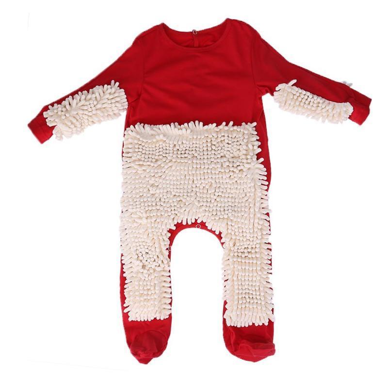Grosshandel Red Baby Overall Langarm Kinder Mop Klettern Kleidung