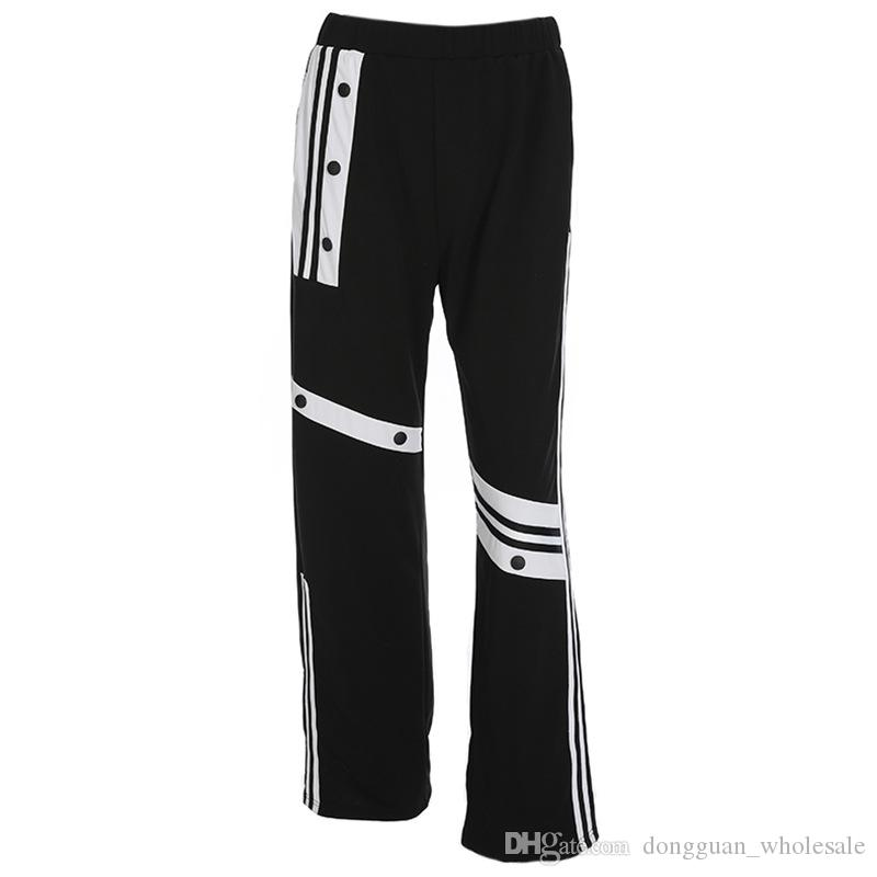 fe865a0c0871 Acquista Pantaloni Larghi Allentati Casuali Neri Pantaloni Diritti A Vita  Alta Pantaloni Diritti Hip Hop Streetwear Cargo Fashion A $21.5 Dal ...