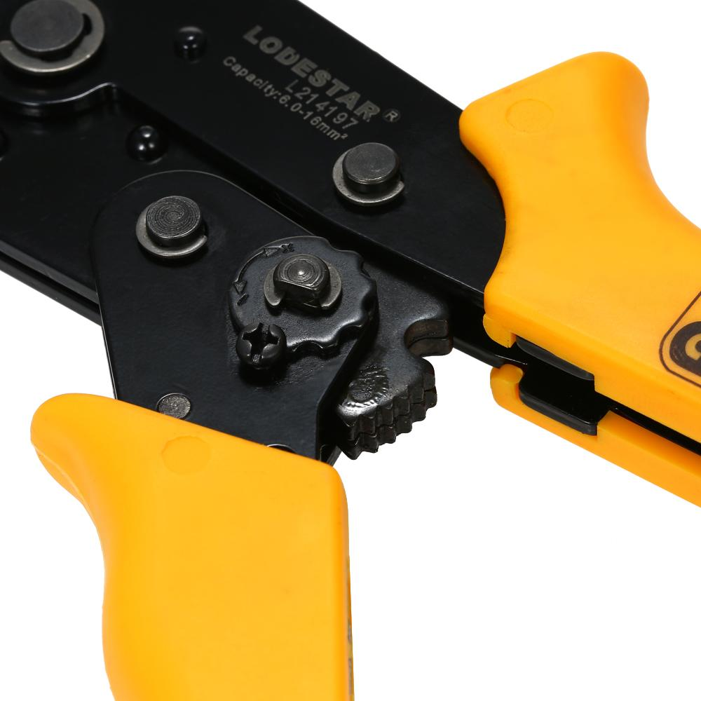 Multifunctional Wire Crimpers Crimping Press Pliers Crimping Tool 10~5 AWG Capacity for Terminals Ratchet Crimping Pliers