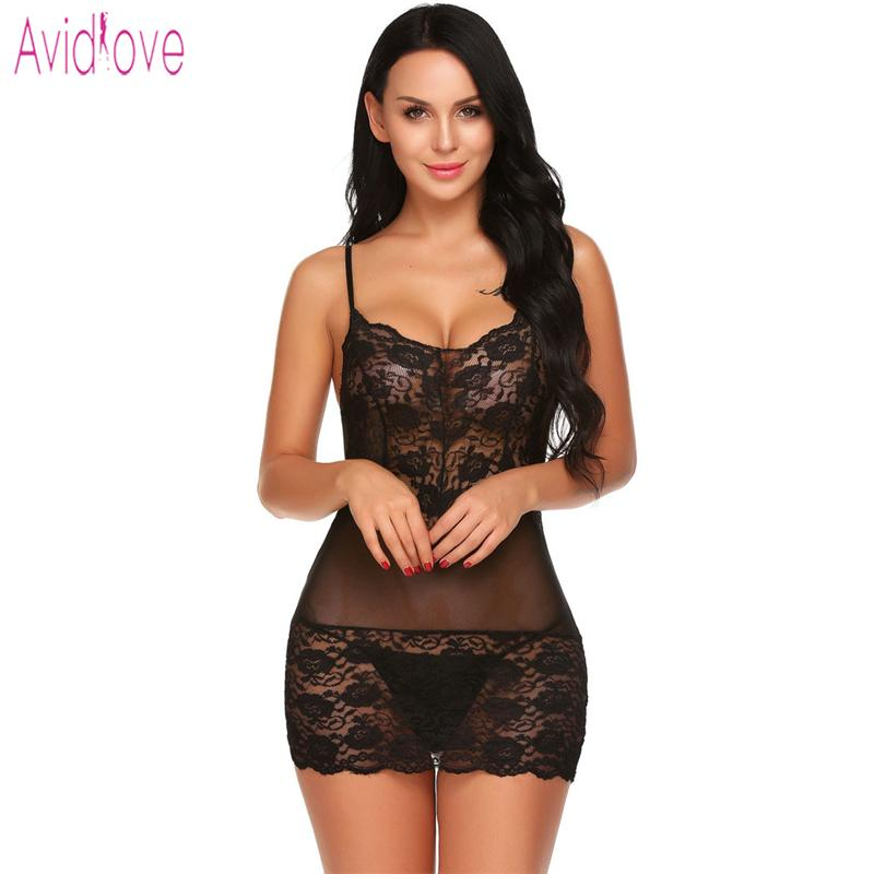 0631bef87 Avidlove Sex Costume Chemise Sexy Lingerie Hot Erotic Lace Underwear Women  Sleepwear Nightwear Babydoll Dress Porn Clothing Y1892909 Pink Sexy  Underwear ...