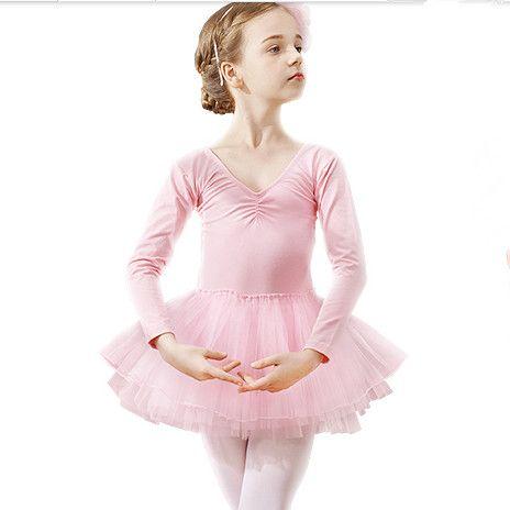 60b20699b 2019 Professional Girls Ballet Dance Clothing Children Sexy V Collar ...