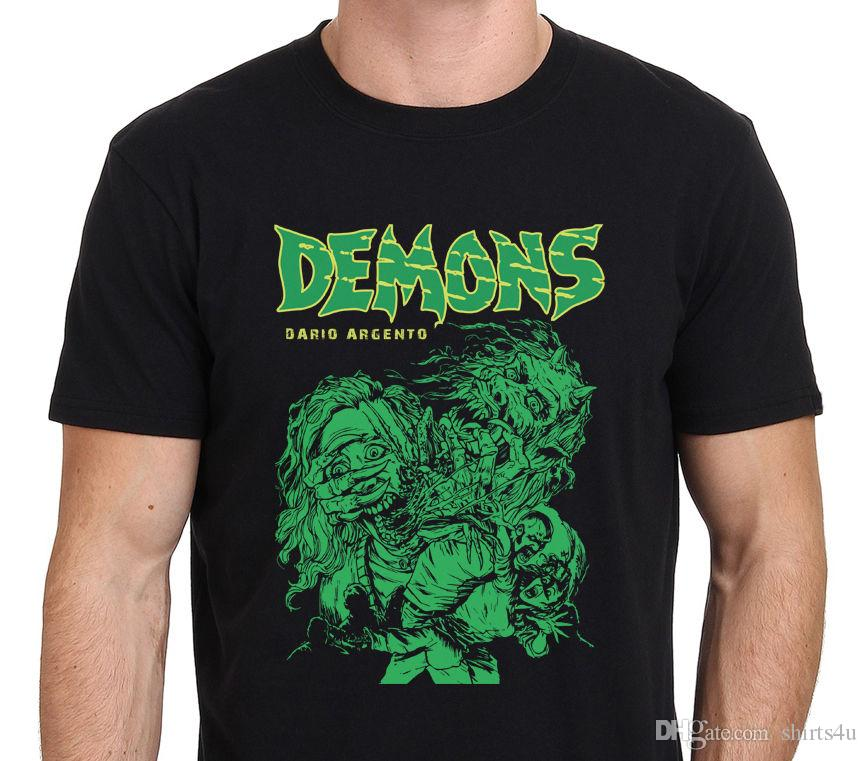 77621cff68b Online Custom T Shirts Men S Crew Neck Casual Short Demons Classic Dario  Argento 80 S Horror Movie Drawing T Shirt Size  S 3XL Best T Shirts Design  All T ...