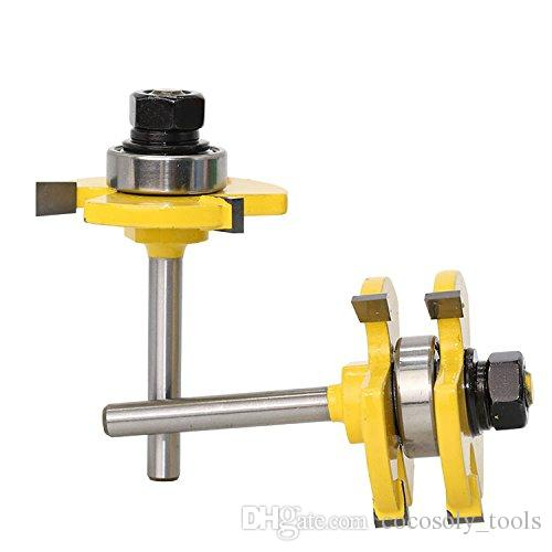 """Tongue and Groove Router Bit, Grooving Router Bit, 3 Teeth T Shape, 1/4"""""""" Shank Wood Milling Saw Cutter New Woodworking Tools"""