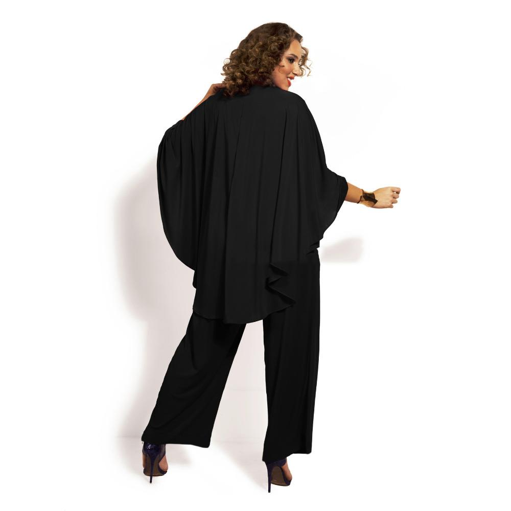 плюс размер XL / XXL / XXXL / XXXXL летний стиль женщины шаль cappa V-образным вырезом шифон повседневная комбинезон Комбинезон комбинезон Комбинезон