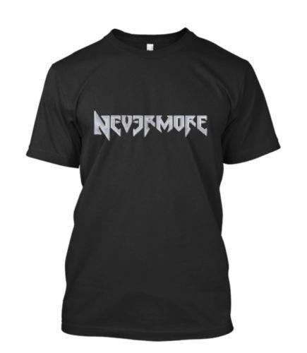 722e3e82 New NEVERMORE Metal Band Men's Black T-Shirt Size S-5XLFunny free shipping  Casual tee