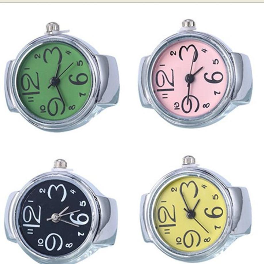Uhren Günstige Zifferblatt Quarz Analog Uhr Kreative Stahl Kühlen Elastische Quarz Ring Finger Uhr Hohe Qualität Uhr