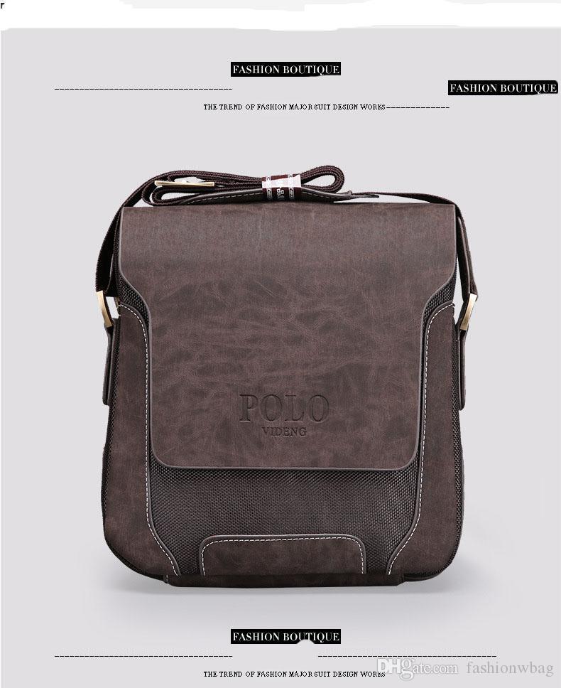 Promosyon Tasarımcılar Marka erkek Haberci Çanta PU Deri Oxford Vintage Erkek Çanta Adam Erkekler için Crossbody Çanta
