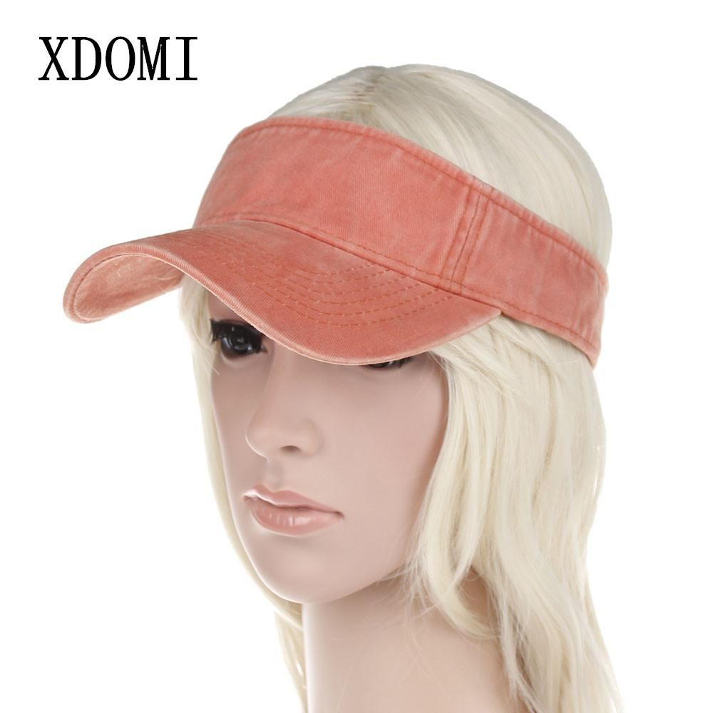 XDOMI 2018 Spring Summer Women s Sun Visor Hat Adjustable Wide Brim Visor  Hat Fashion Casual Beach Caps For Women Girls Tilley Hat Pillbox Hat From  Haydena 31dc1642a71