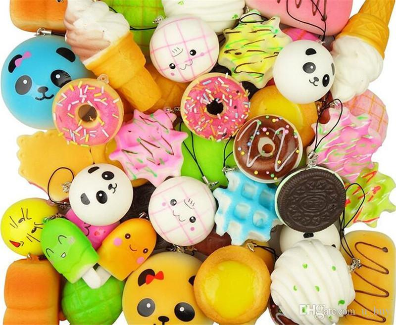 Kawaii Toast Bread For Squishy Jumbo Toy Kids Best 14cm Slow Rising Squishies Cake Toy Collection Gift Toy Phone Strap Key Charm Mobile Phone Accessories Mobile Phone Straps