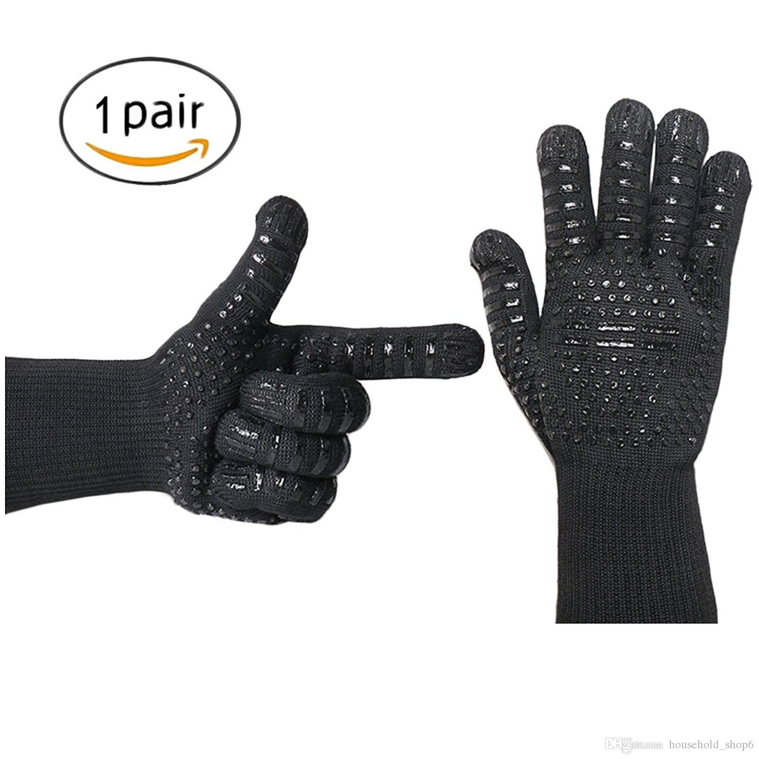2018 New Multifunctional Heat Resistant Gloves Long Forearm ...