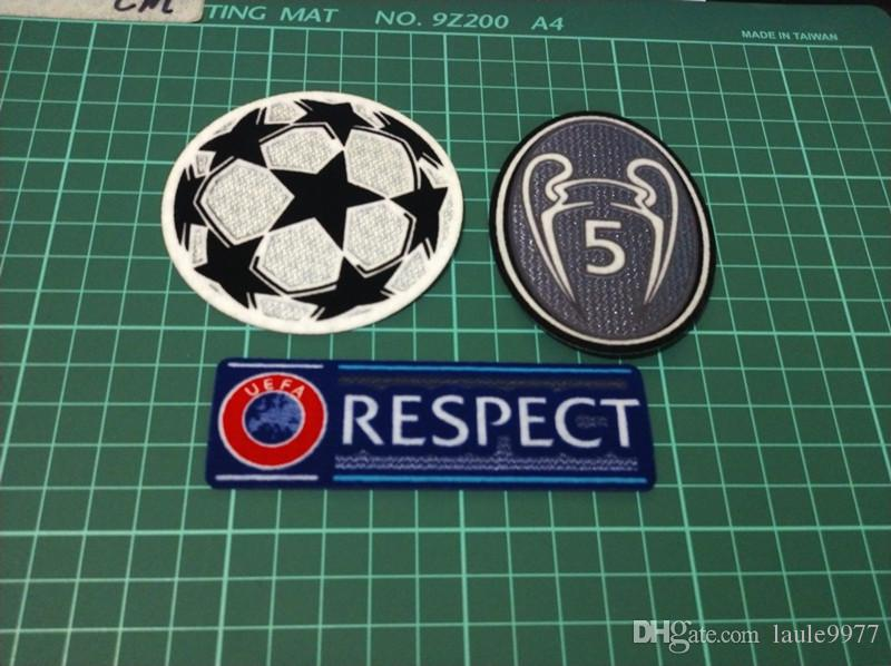 55c5c9369d9 2019 Top Quality Champion League Patch Soccer Patches Football Ucl Respect  Patch Badges Dark Grey 5 Times Top Badges From Laule9977, $4.33 | DHgate.Com