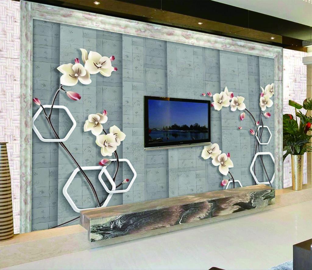Satın Al özel Perakende 3d çini Desen Güzel çiçekler Narin Duvar