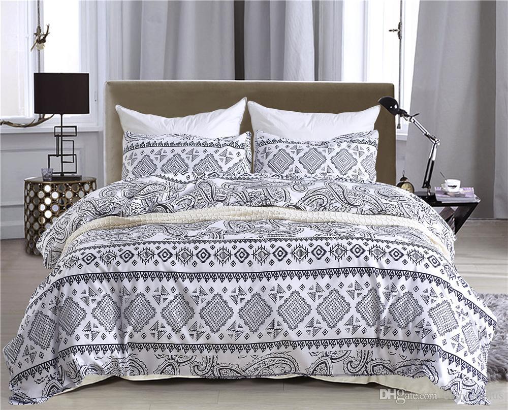 New White Black Geometric Design Bedding Set Of Duvet Cover Set