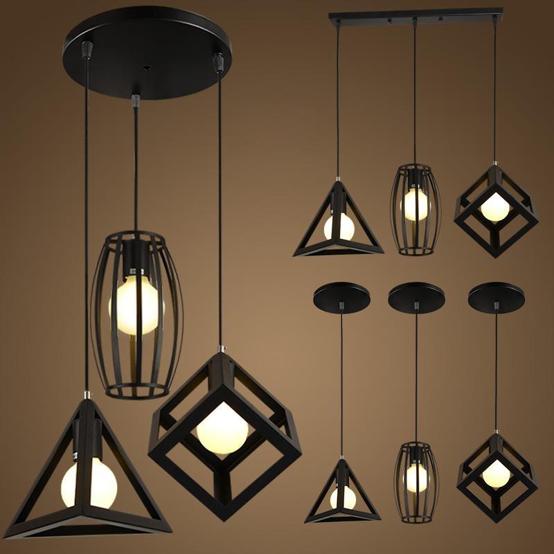 Retro Indoor Lighting Vintage Pendant Light Led Lights Iron Cage Lampshade Warehouse Style Light Fixture Lights & Lighting Ceiling Lights & Fans