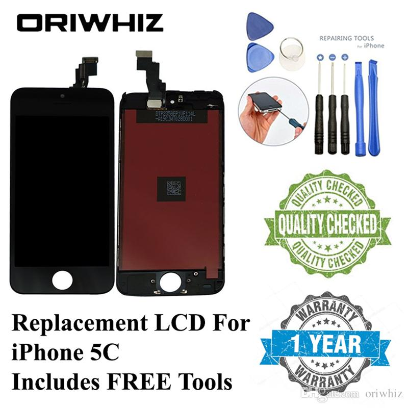 ORIWHIZ Bulk Price Quality for iPhone 5C LCD Touch Screen Digitizer Assembly Black and White Color Perfect Packing Fast Shipping