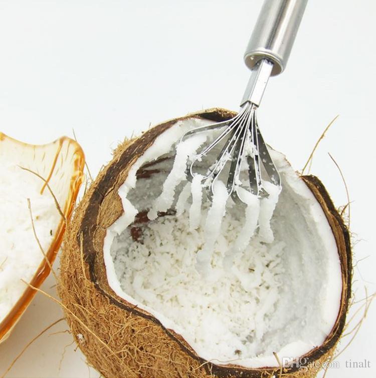 Échelle de poisson en acier inoxydable rabotage outil échelle racleuse râpe à la noix de coco rabotage rabotage de la noix de coco