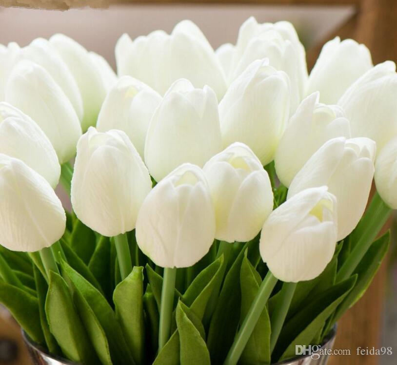 توليب الاصطناعي الزهور بو الزفاف ديكور محاكاة العروس باقة كالا ريال اللمس فلوريس الفقرة الرئيسية حديقة GA79
