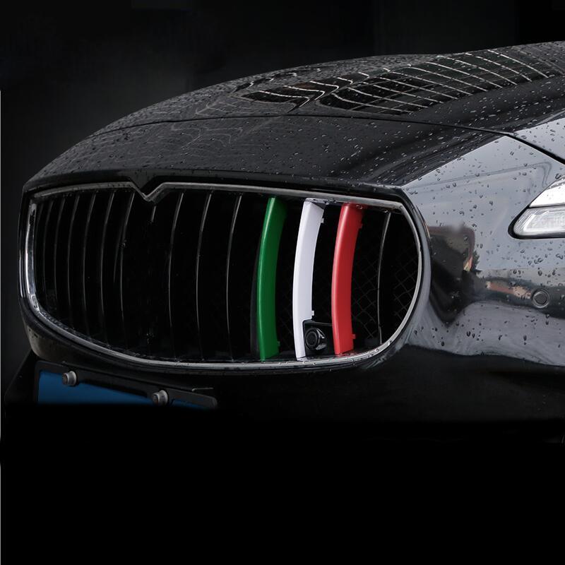 Car-styling Grilles de calandre avant garniture Sport Strips Couverture Motorsport Power Performance Stickers pour Maserati Ghibli Quattroporte Accessoires