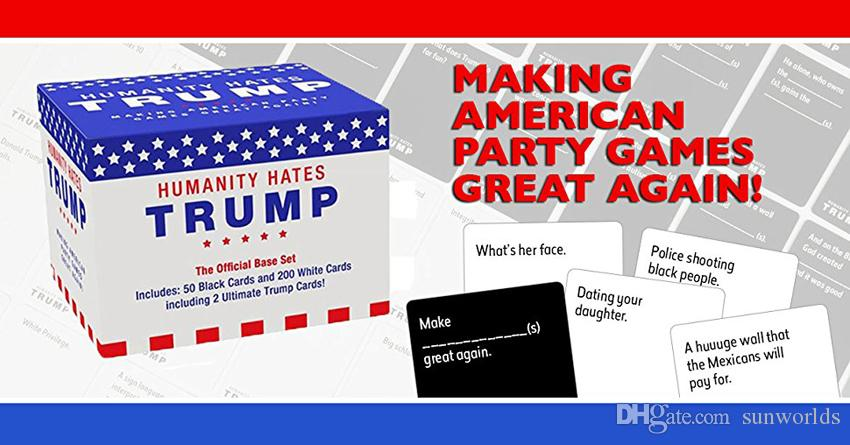 Top Quality Christmas Gift Humanity Hates Trump Card For Adult Party Festive Supplies IN STOCK IMMEDIATELY DELIVERY