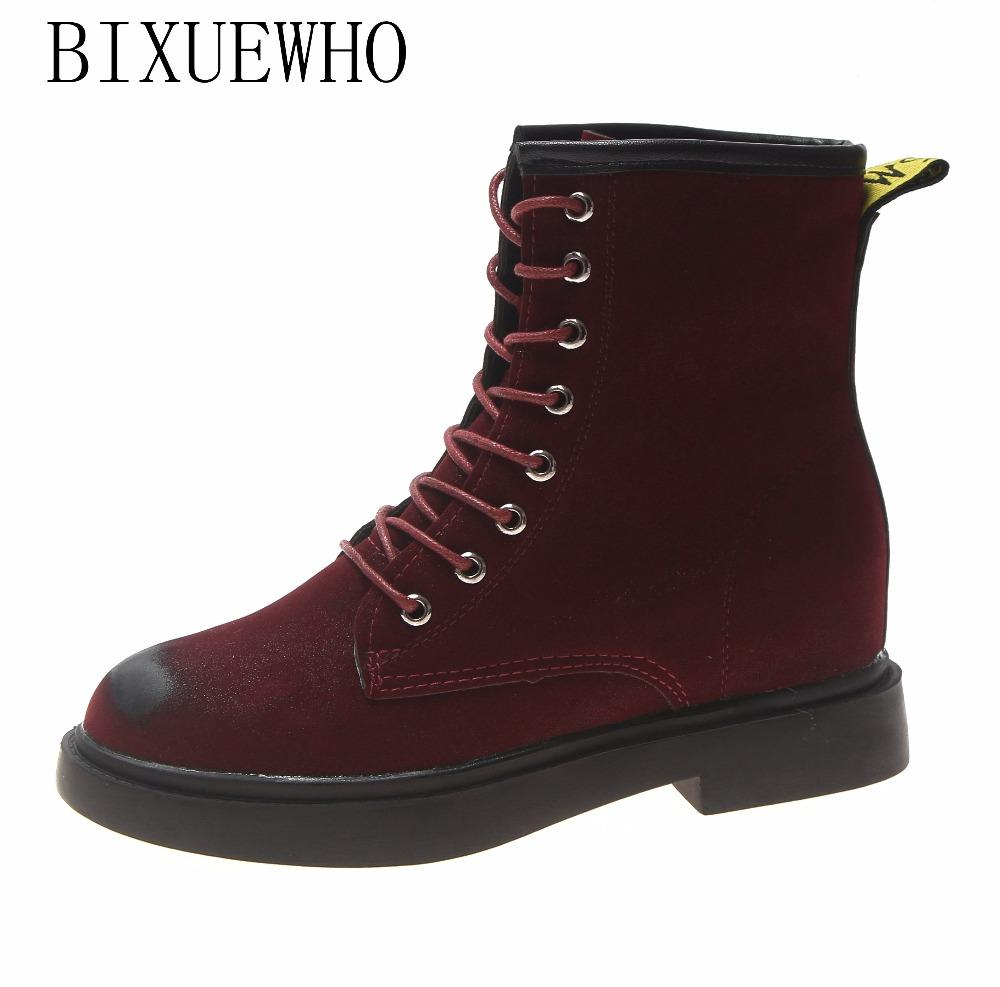 2018 New Classic Ankle Women S Soft Boots Autumn Martin Riding Wine Red Shoes  Woman Flat Heels Elegant Boots For Hot Girls Walking Boots Ankle Boot From . ae076e30fd95