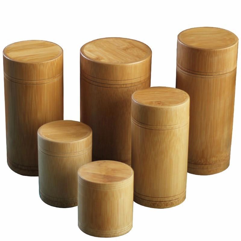 Acheter Main Boîte En Bambou Boîte De Rangement Canister Couvercle Joint  Cuisine Stockage Pots Accessoires Épice Cas Organisateur En Gros De $25.33  Du ...