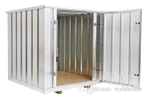 2018 Galvanized Steel Storage Shed Container 81 Wide X 86 Long X 87.5 HighTools Contianer From Wzhhouse $1502.52 | Dhgate.Com  sc 1 st  DHgate.com & 2018 Galvanized Steel Storage Shed Container 81 Wide X 86 Long X ...