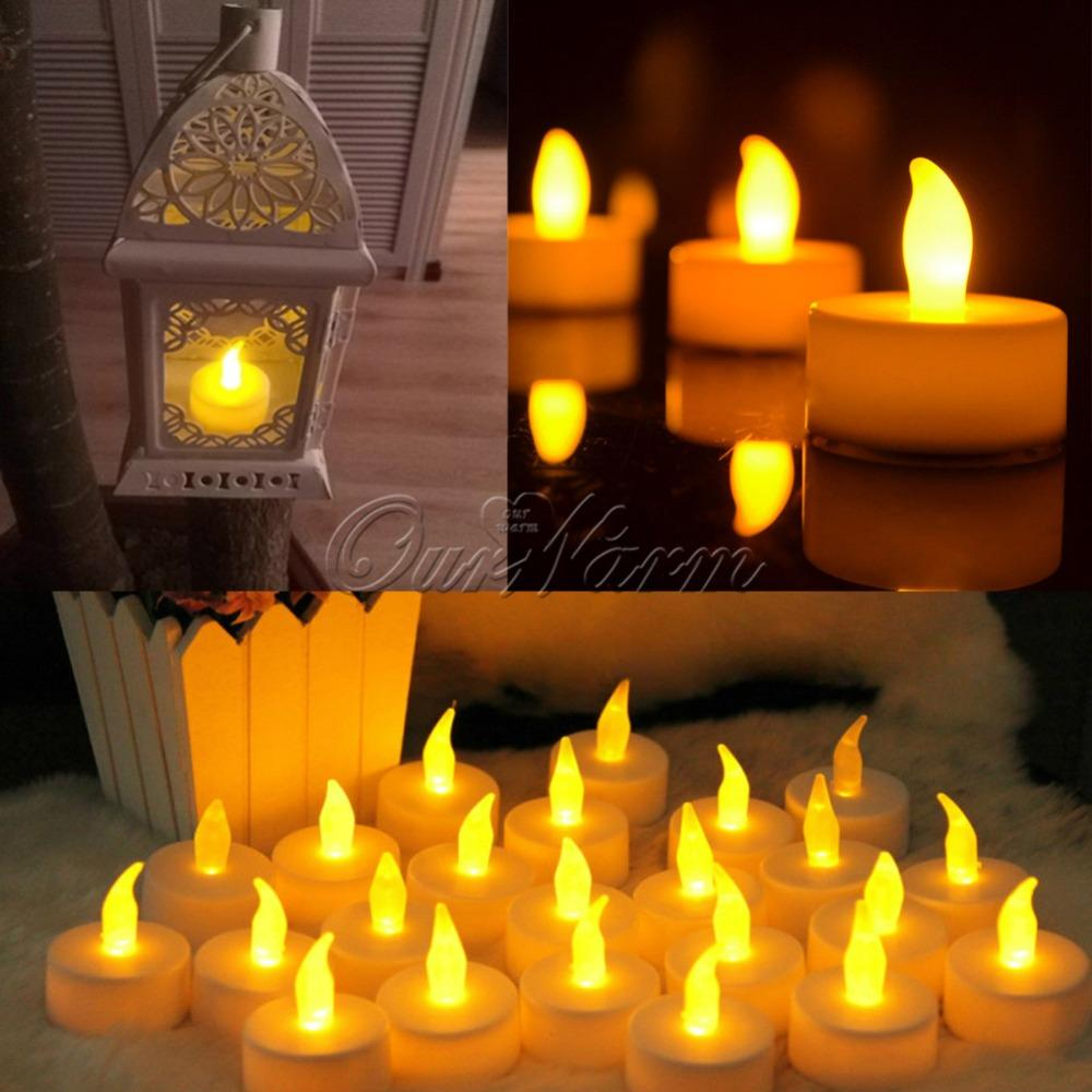 12Pcs /Lot Led Candle Light Flameless Candle Lights For Wedding Decoration Glow Party Supplies Home Decor