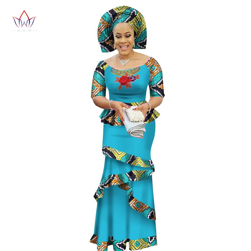 2019 2017 Brw Private Custom African Dress Bazin Riche Women Dress