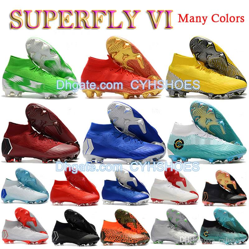 61e054c86 2019 2018 World Cup Mercurial Superfly VI 360 Elite FG Soccer Shoes Mens  Neymar JR ACC Outdoor Football Boots Cristiano Ronaldo 12 Soccer Cleats  From ...