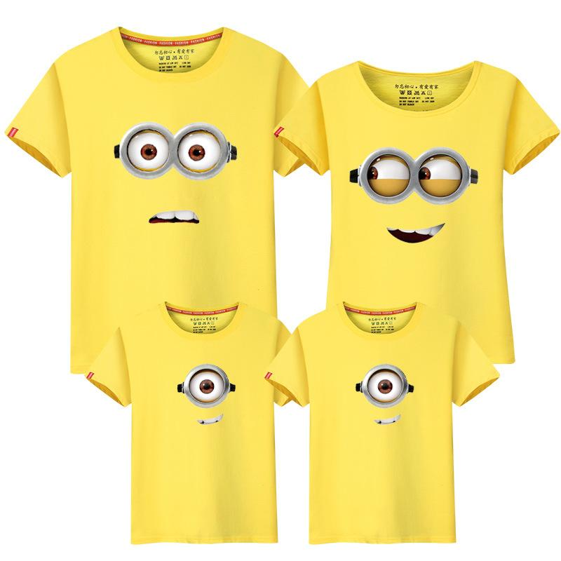 Tshirt Matching Outfits Family Dad Mom Kids Clothes Tops Tees Cartoon Monkey Family Look Fashion Family Clothing White Black Fashionable Patterns Mother & Kids