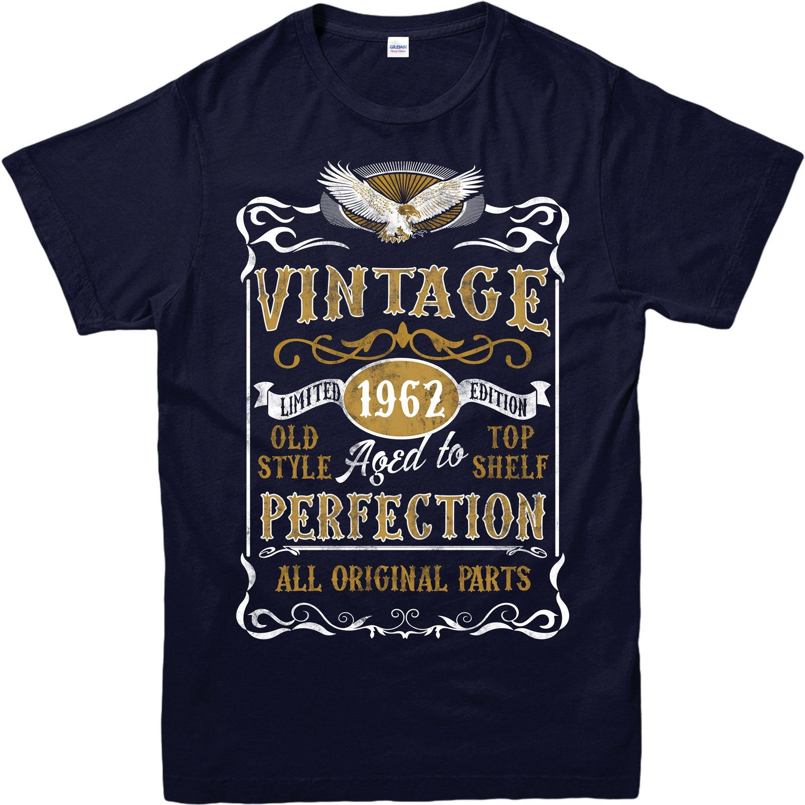 Made In 1962 Vintage T Shirt, Born 1962 Birthday Age Year Gift Top Funny  Unisex Casual Cool T Shirts For Men Cheap Tee Shirts From Rocktothetop, ...