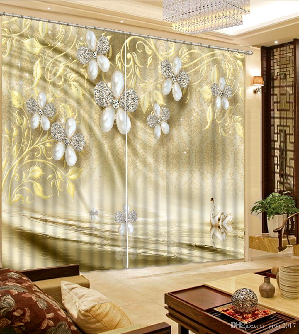 2018 Modern Pink Curtains Custom 3d Painting Curtains Romantic Rose Girls Room  Curtain Sofa Home Decor From Yiwu2017, $200.0 | Dhgate.Com