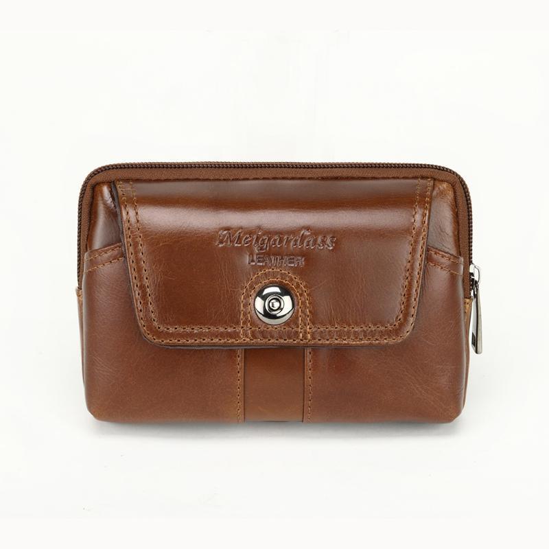 bfc11c96768c8 Genuine Leather Men Waist Bag Small Wallet Purse Pocket Mobile Phone Pouch  Bags Travel Fanny Pack Belt Hip Bum Bag For Male 2018 Vintage Bags Large  Handbags ...