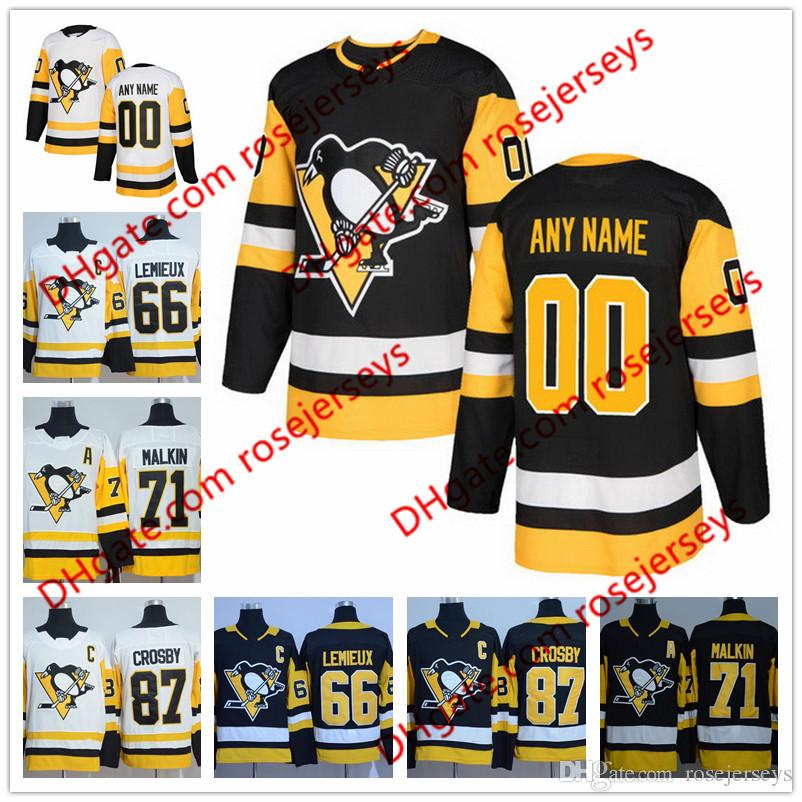fed58063163 ... amazon new brand custom pittsburgh penguins hockey jerseys stitched any  number name customized 2018 black home