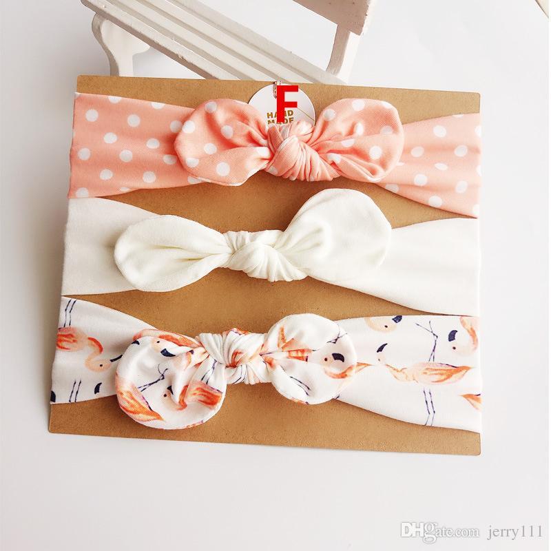 Baby girl Headband Unicorn Mermaid hair accessories Knot Bows Bunny band Birthday gift Flowers Geometric Print /card Headbands LC688