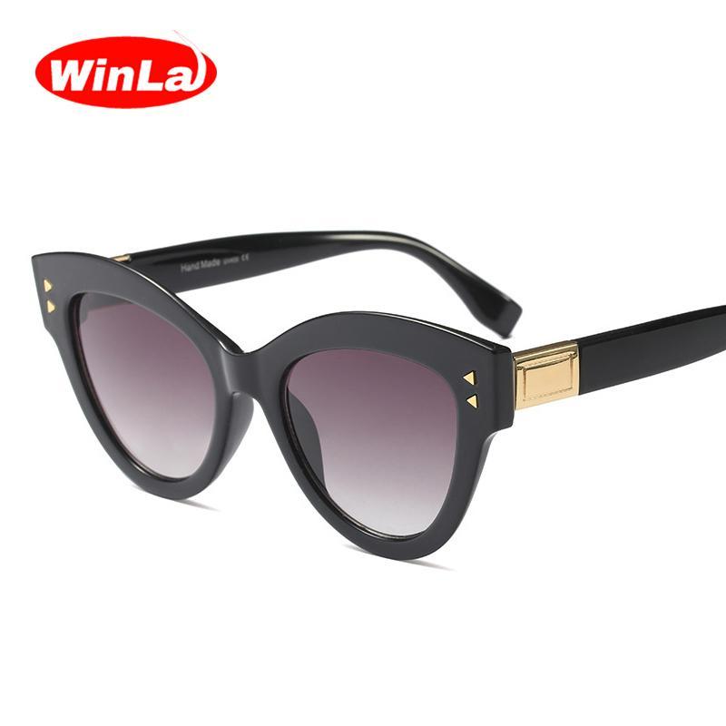 e39e3a9d67b WINLA BRAND DESIGN Classic Latest Women Cat Eyes Sunglasses Luxury Fashion  Sun Glasses Retro Glasses UV400 Lens Goggles WL1227 Electric Sunglasses  Fastrack ...