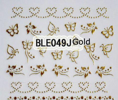 3D Tırnak Sticker Holografik Altın Metalik Yapıştırıcı Transferi Çıkartmaları 30 Adet / takım Hindistan Cevizi Ağacı Yaprak Manikür Çıkartmalar Tırnak Sanat Süslemeleri