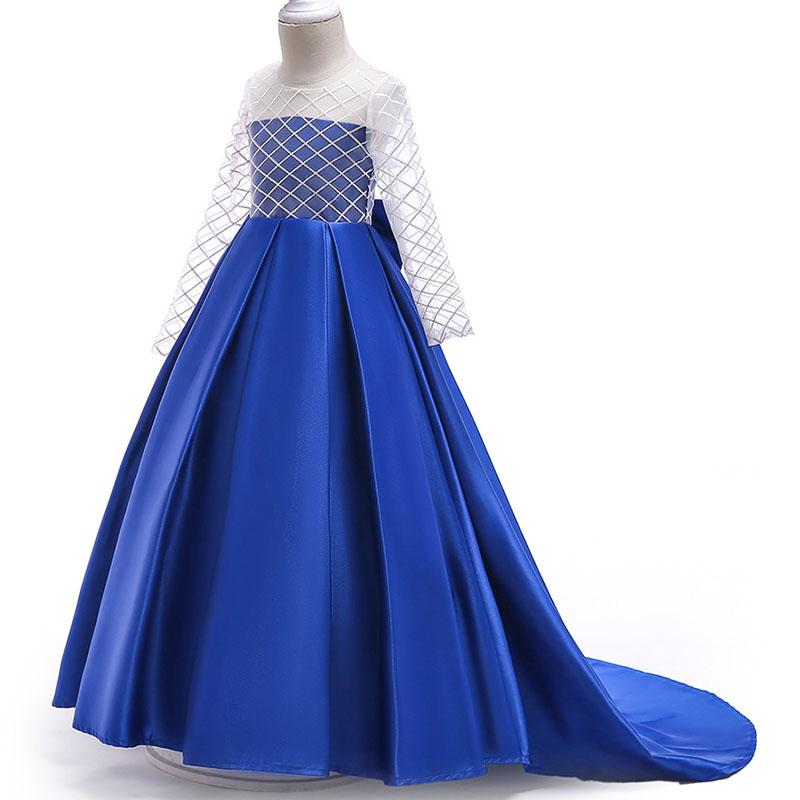 2029e94748d6 Children Clothing Flower Girl Dress Wedding Birthday Tulle Lace Long Elegant  Princess Christmas Party Show Party Child Teen Tutu Clothes Young Girls  Dresses ...