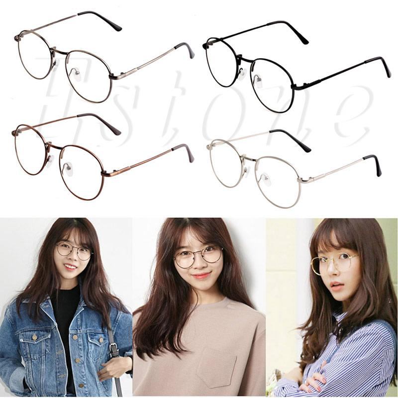 Unisex Fashion Women Girls Thin Metal Spectacle Frame Eyeglasses Clear Lens  Glasses UK 2019 From Juemin a1d783839f