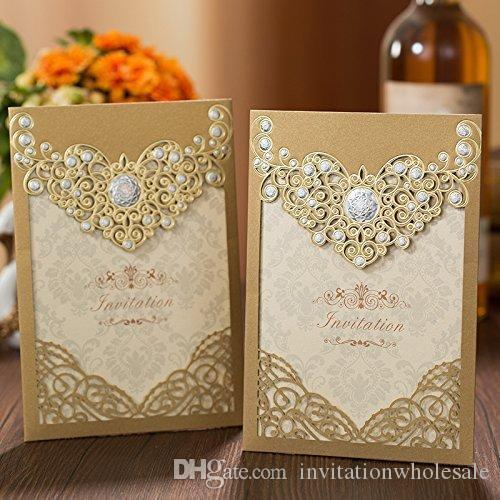 New Style Personalized Free Print Laser Cut Cards With Lace Flowers For Engagement Party Wedding Invitation Greeting Happy Birthday Of