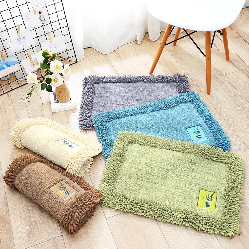 Großhandel Einfache Einfarbig Baumwolle Chenille Fußmatten Home ...