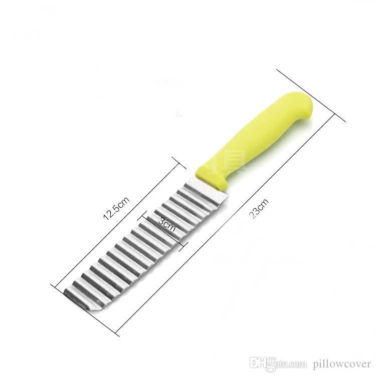 Aço inoxidável Francês Fry Batata Cortador de Batata Batata Fritas Faca de Batata Fritas de Batata De Plástico Lidar Com Ferramentas de Cozinha Vegetal Slicer navio da gota