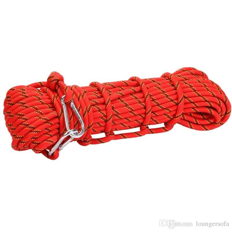Corde d'escalade de fibre de polyester de sécurité tressée parachute résistante à la corde pour l'équipement de camping extérieur