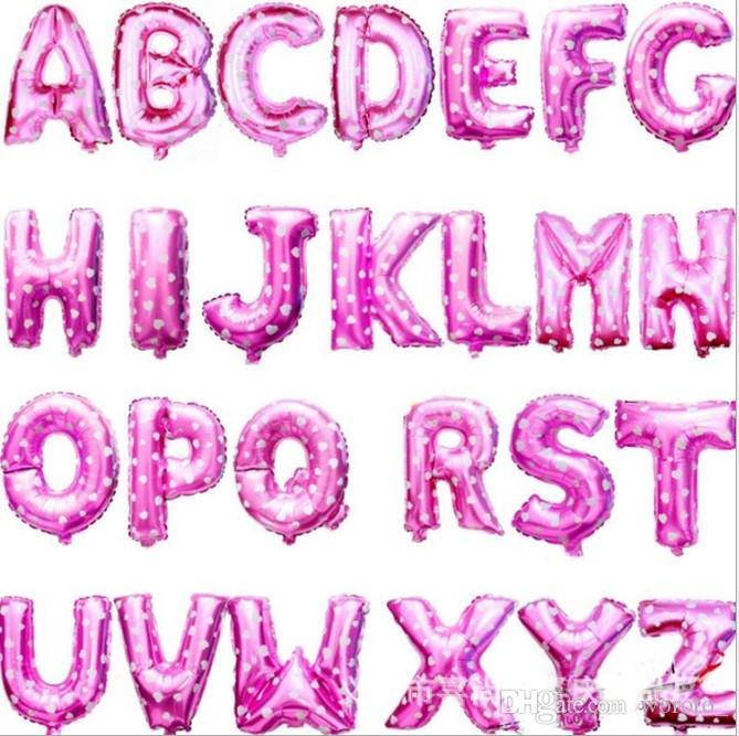 16 pouces En Aluminium Ballons Or Argent Couleur Alphabet Lettres A-Z et Arabe Numéro 0-9 Feuille Balloon De Noël Fête D'anniversaire Décoration